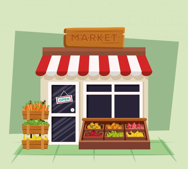 Produits sains de légumes et de fruits biologiques