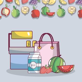 Produits de supermarché alimentaire