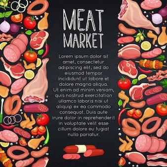 Produits de viande aux légumes