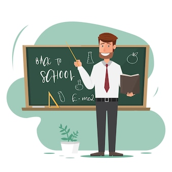 Professeur en salle de classe.
