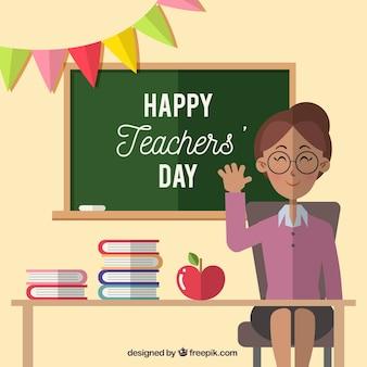 Professeur souriant, jour de l'enseignant