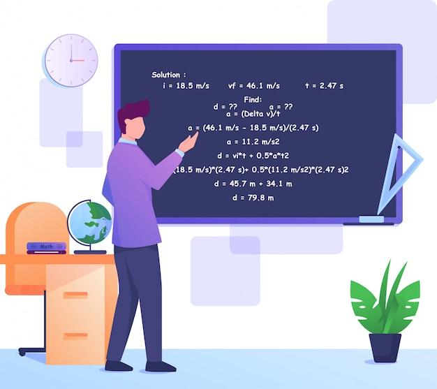 Professeurs enseignant les mathématiques