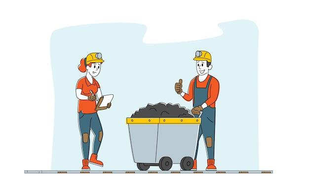 Profession de l'industrie d'extraction