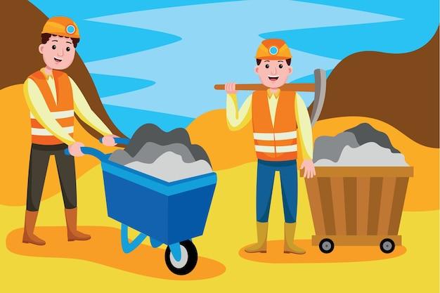 Profession de mineur de charbon