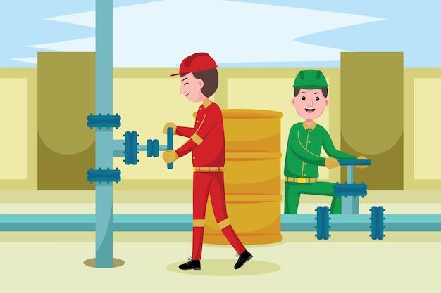 Profession des mineurs de pétrole