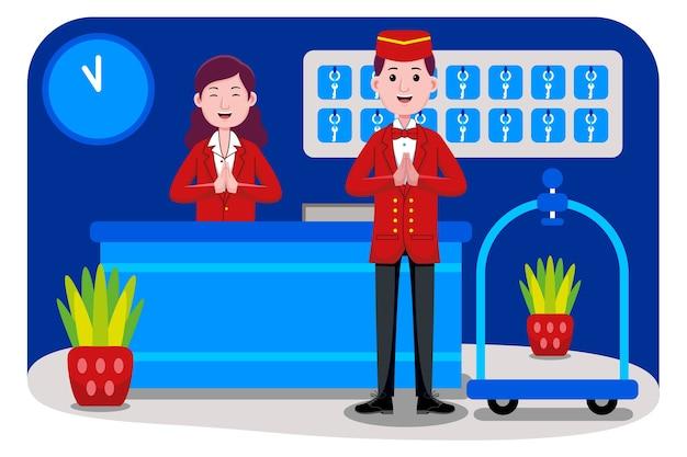 Profession de réceptionniste d'hôtel