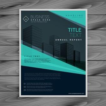 Professionnel bleu modèle de conception de la brochure