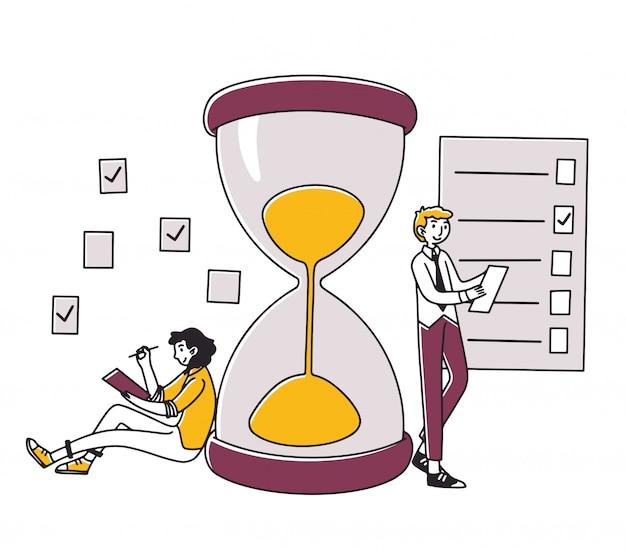 Professionnels planifiant des tâches de projet