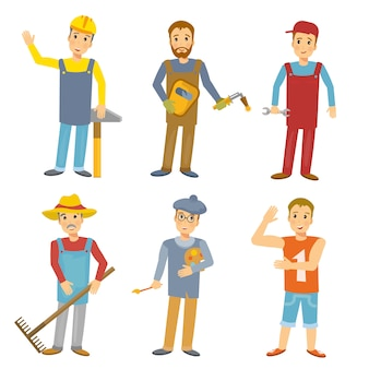 Professions collection people illustration