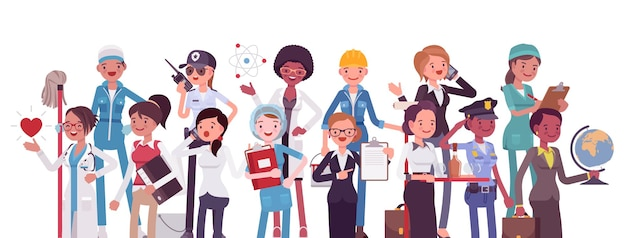 Professions et emplois, professions féminines pour la carrière