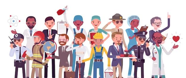 Professions et emplois, professions masculines pour la carrière