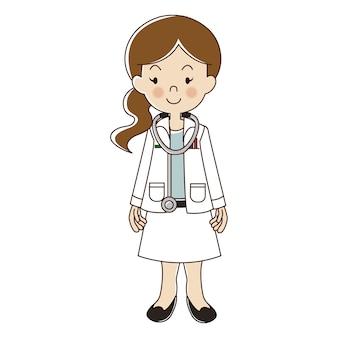 Professions femme médecin