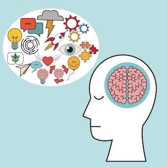 Profil cerveau cerveau humain apprendre la créativité