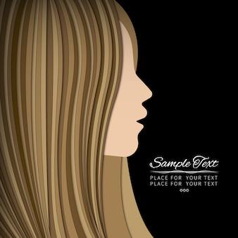 Profil de femme blonde