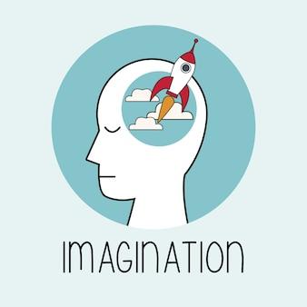 Profil imagination de la tête humaine