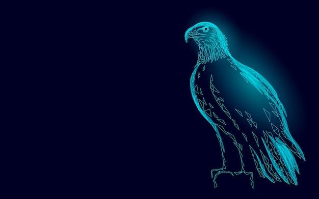 Profil d'oiseau assis aigle. symbole national américain.