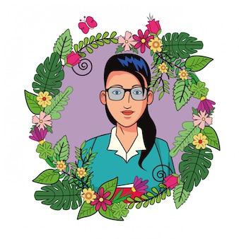 Profil de personnage de dessin animé avatar femme d'affaires