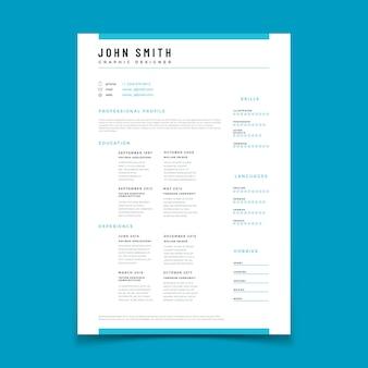Profil personnel cv. reprendre les données de la chronologie du curriculum vitae. modèle web de conception