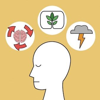 Profil processus d'idée de tête humaine