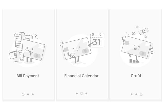 Profit croissant paiement de factures. calendrier financier
