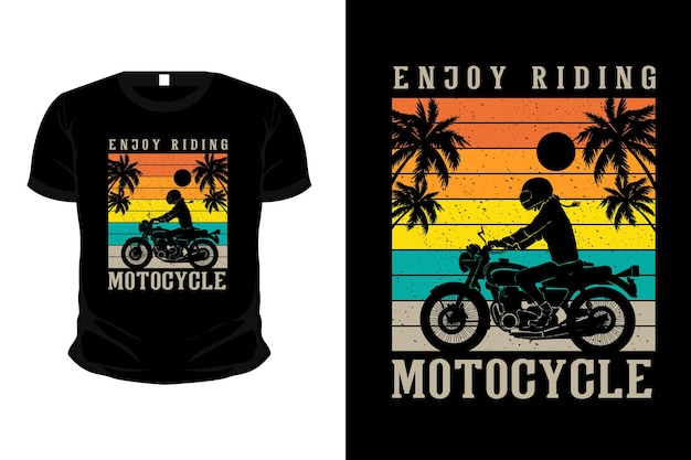 Profitez de la conception de t-shirt de maquette de silhouette de marchandise de plage