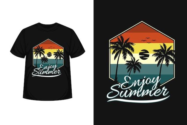 Profitez de la conception de t-shirt silhouette de marchandise d'été