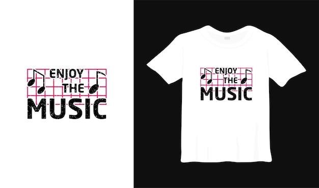 Profitez de la conception de t-shirt de typographie musicale
