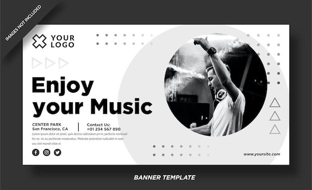 Profitez de votre vecteur de bannière de musique