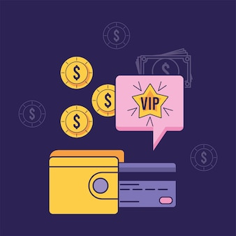 Programme de fidélité avec de l'argent