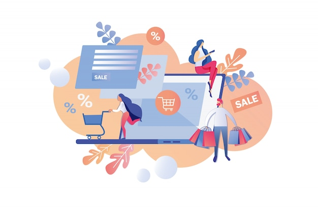 Programme final de vente et de remise dans la boutique en ligne.