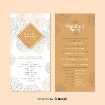 Programme de mariage