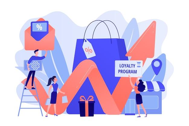 Programme de récompenses. stratégie de marketing. promotion au détail