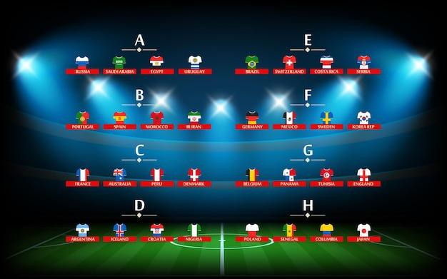 Programme de tournoi de football. modèle infographique de football