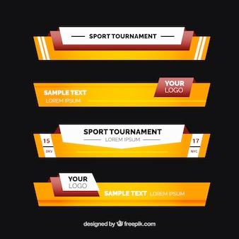 Programmes sportifs paquet des tiers inférieurs