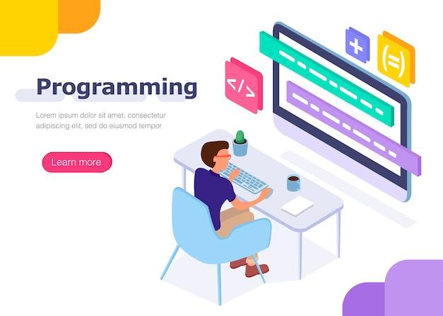 Programmeur au travail