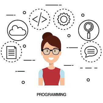 Programmeur de langage logiciel avatar
