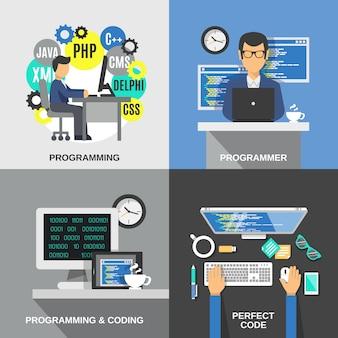 Programmeur plat set