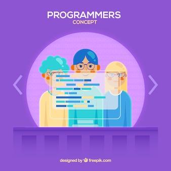 Programmeurs concepto avec un style moderne