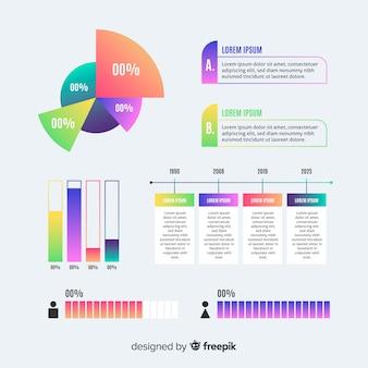 Progrès marketing représenté par des graphiques infographiques