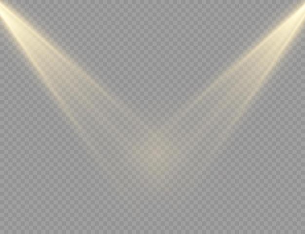 Le projecteur brille effet de lumière flash