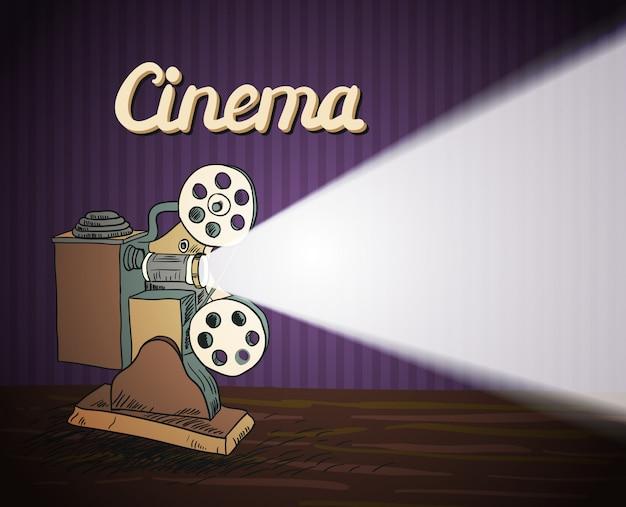 Projecteur de cinéma doodle