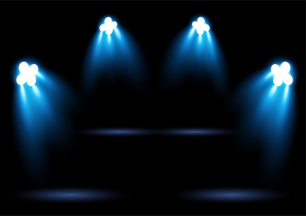 Projecteur d'éclairage de stade bleu vif