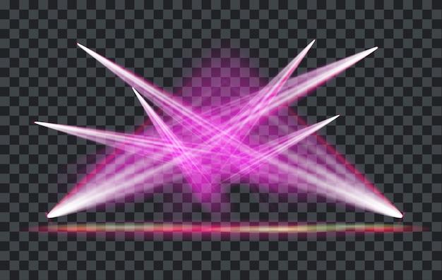 Projecteur d'effet de lumière vector avec fond transparent