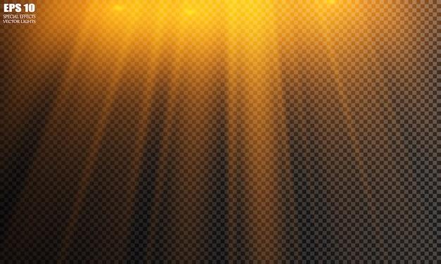 Projecteur isolé de vecteur. effet lumineux