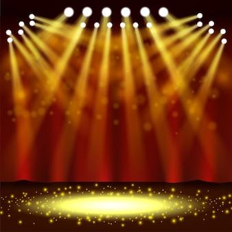 Un projecteur qui brille devant un spectacle