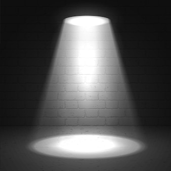 Projecteur de scène sur fond grunge sombre projecteur lumineux de scène vectorielle projecteur de scène