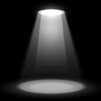 Projecteur de scène sur fond sombre projecteur lumineux de scène de vecteur projecteur de vecteur de scène