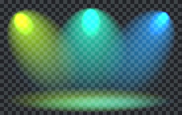 Projecteurs colorés avec transparence