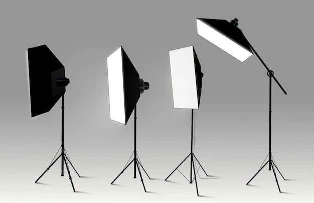Projecteurs fond transparent réaliste pour concours concours ou illustration d'entrevue