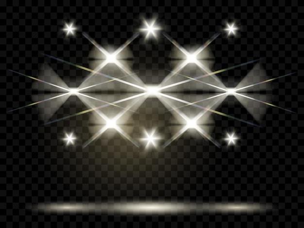Projecteurs. illumination de la scène